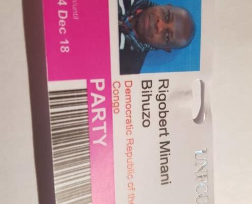 représentant de la RDC au COP24